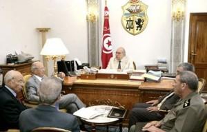 Béji Caïd Essebsi, Rachid Ammar et Fouad Mebazaa