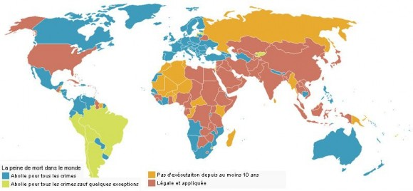 La peine de mort dans le monde