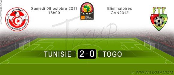 Tunisie (2 - 0) Togo - Equipe de Tunisie