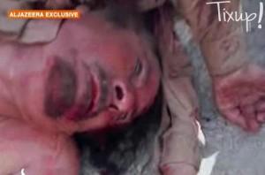 Cadavre Mouammar Kadhafi