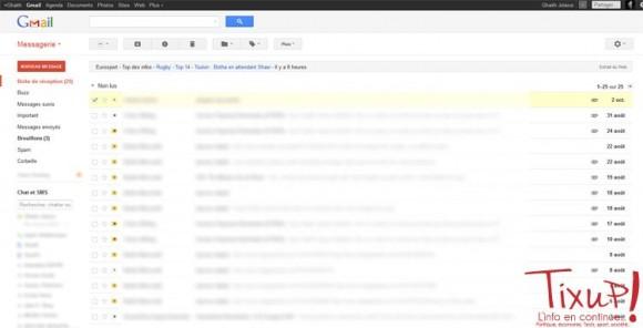 Gmail - Interface Principale