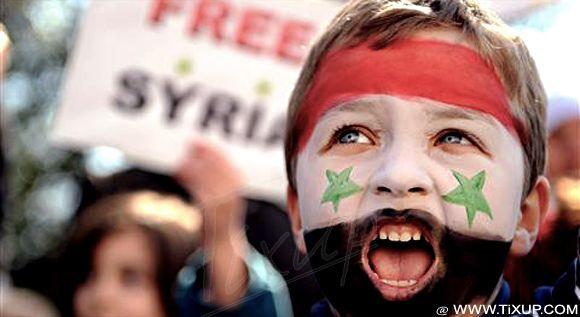 Manifestation de soutien au peuple syrien