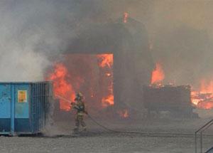 Incendie Kairouan