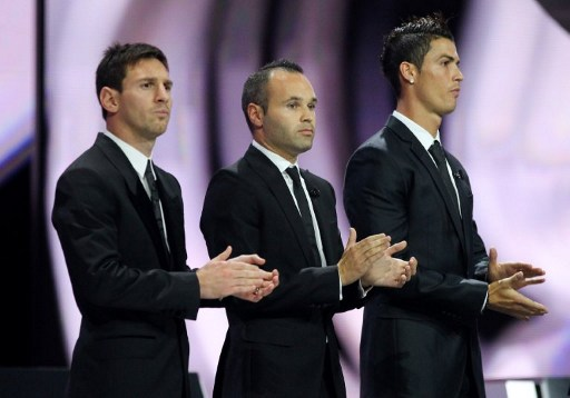 Lionel Messi - Andrés Iniesta - Cristiano Ronaldo