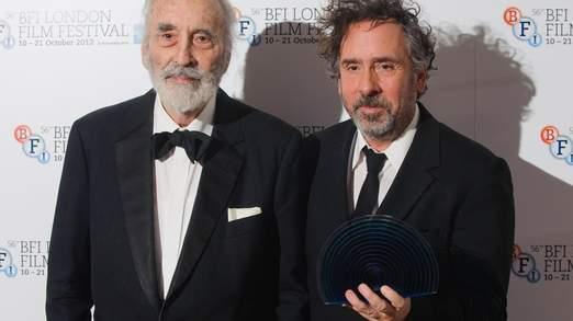 Sir Christopher avec Tim Burton en 2012