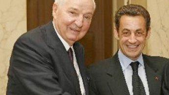Paul Desmarais Sr. avec l'ancien président français Nicolas Sarkozy