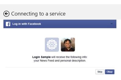 L'identification Facebook arrive dans Windows 8.1
